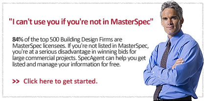 I can't use you if you're not in MasterSpec